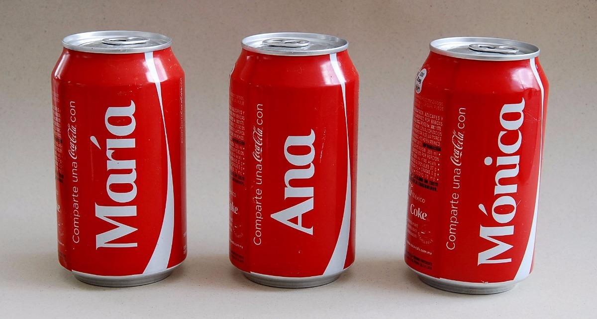 Personalización de latas de coca cola
