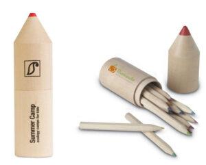 Lápices personalizados en caja de madera