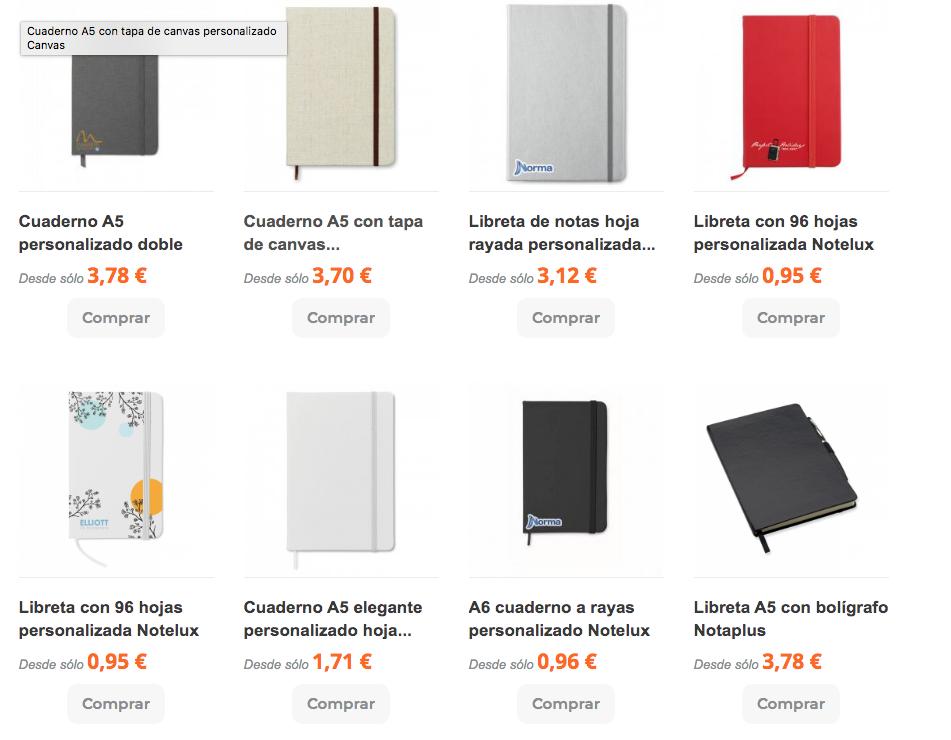 catalogo cuadernos personalizados promopen