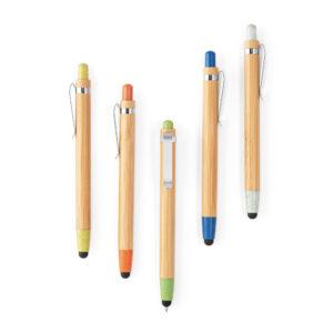 Bolígrafos de madera de colores