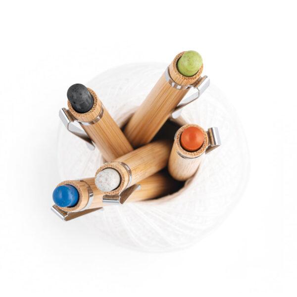 bolígrafos de madera con punta ecologica de color