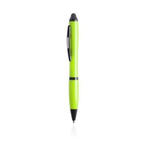 Bolígrafo verde lima y negro