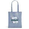 Bolsa de algodón personalizable de color azul claro
