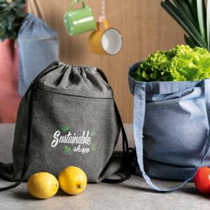 Bolsa de algodón reciclado personalizable