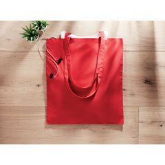 Bolsa de algodón roja