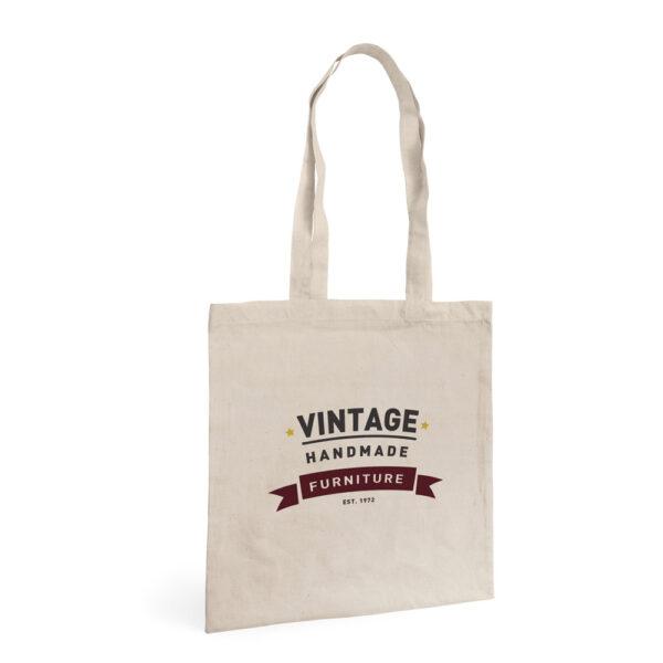 Bolsa de algodón personalizable de color beige