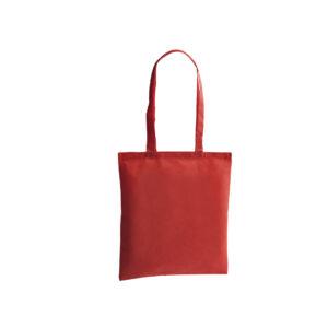 bolsa de tela de color rojo
