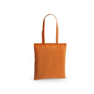 bolsa de tela de color naranja