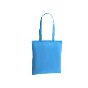 bolsa de tela de color azul