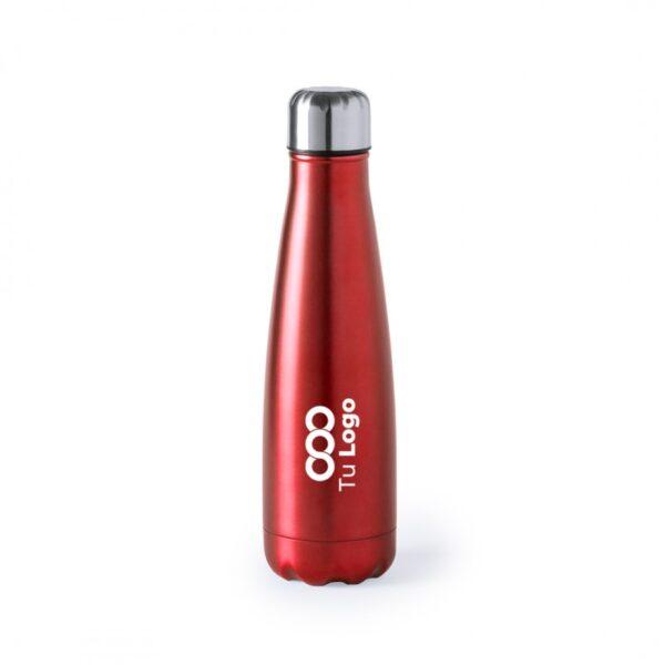 botella personalizada de acero roja con logo