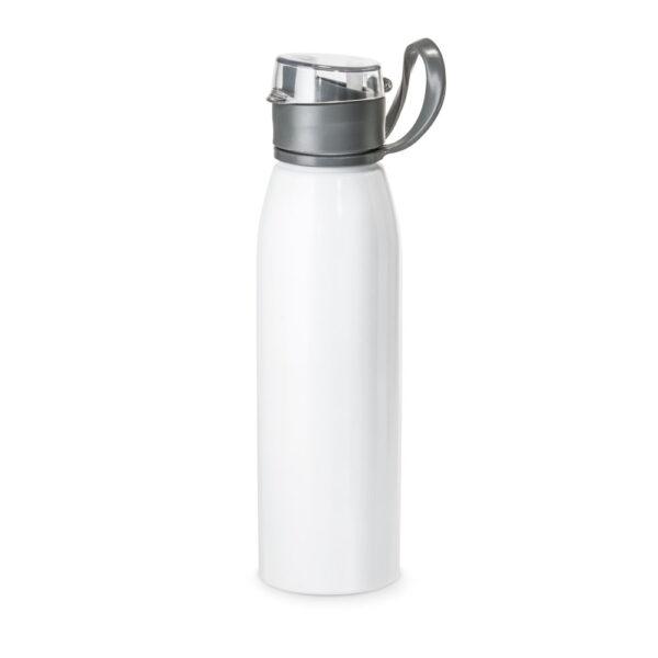 Botella deportiva con asa blanco con logo