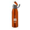 Botella deportiva con asa naranja con logo