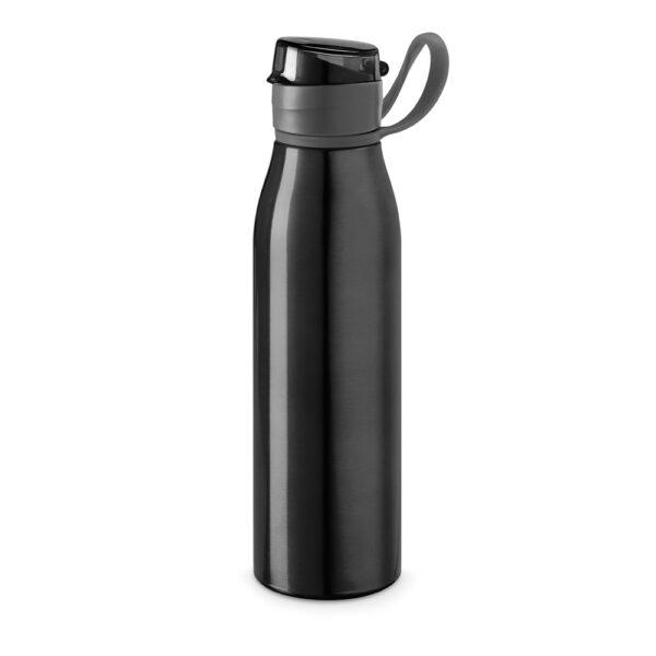 Botella deportiva con asa negro con logo