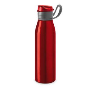 Botella deportiva con asa rojo con logo
