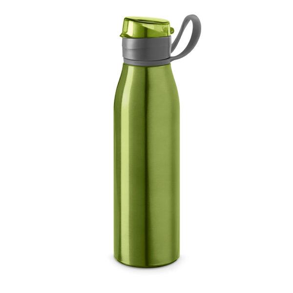 Botella deportiva con asa verde con logo