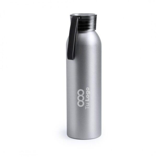 botella personalizada de alumnio gris con logo