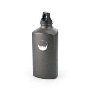 botella triangular negra personalizada pequeña con logo