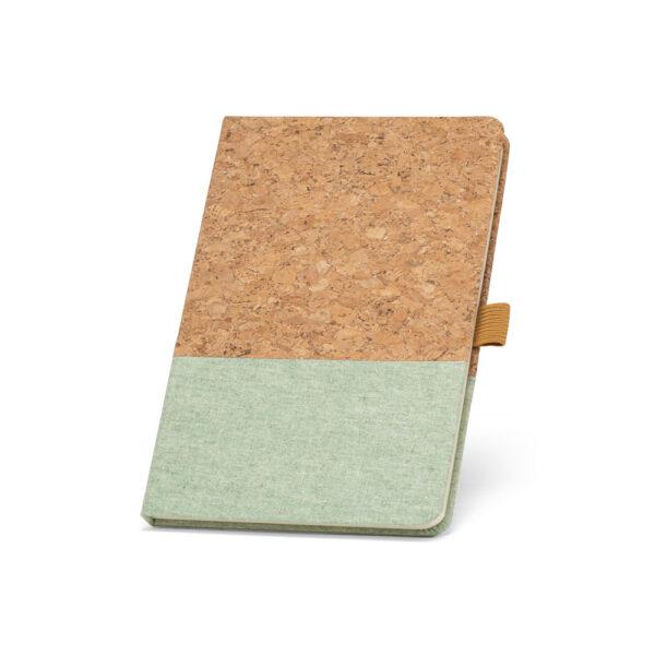 Cuaderno personalizado de corcho y color verde claro