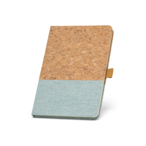 Cuaderno personalizado de corcho y color azul claro