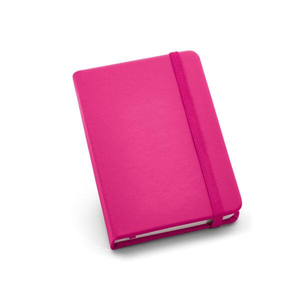 Cuaderno de notas de color rosa
