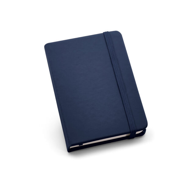 Cuaderno de notas de color azul oscuro