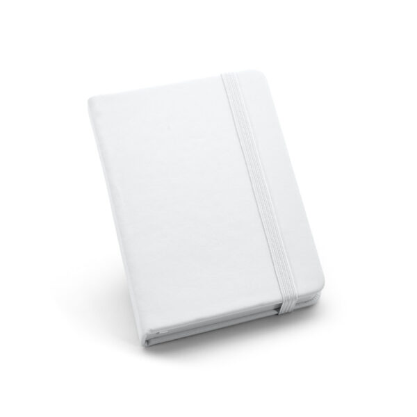Cuaderno de notas de color blanco