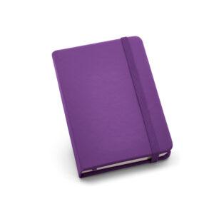 Cuaderno de notas de color morado