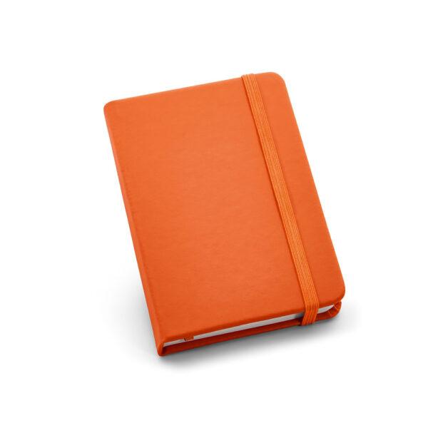 Cuaderno de notas de color naranja