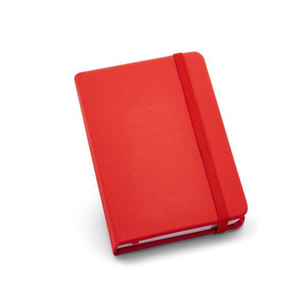 Cuaderno de notas de color rojo