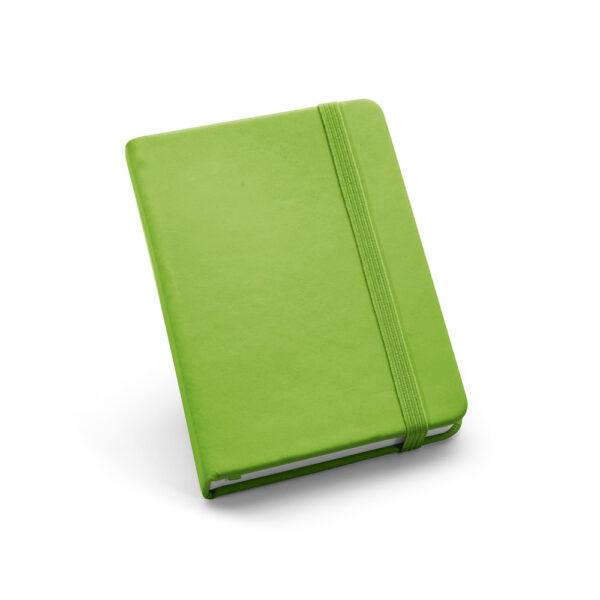 Cuaderno de notas de color verde claro