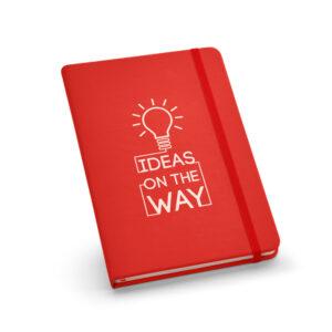 Cuaderno A5 personalizado rojo