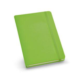 Cuaderno personalizado de color vede claro