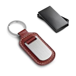 caja y llavero personalizable de polipiel