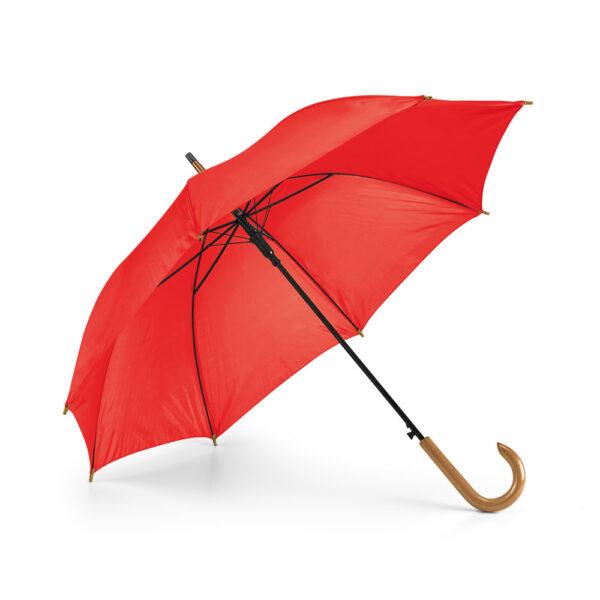 Paraguas personalizado de color rojo
