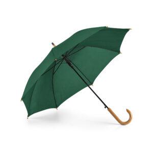 Paraguas personalizado de color verde oscuro