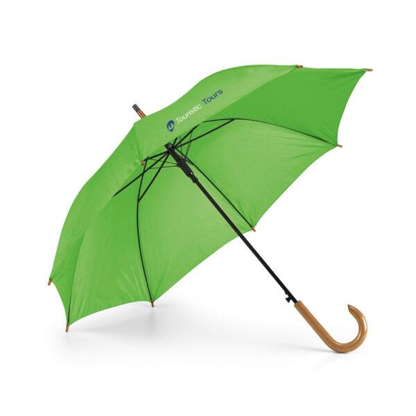 Paraguas personalizado de color verde claro