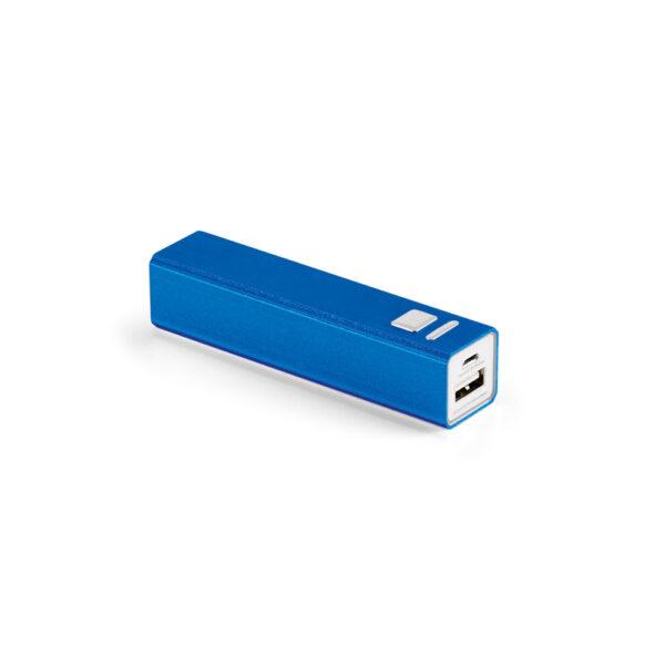 Power Bank personalizado pequeña azul