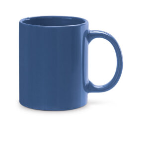 Taza de cerámica de color azul