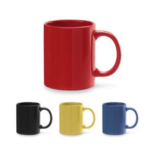 Tazas de cerámica de colores