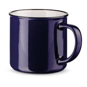 Tazas clásicas de color azul oscuro