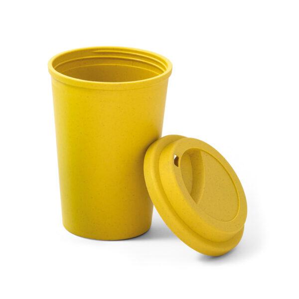 taza de viaje personalizada de color amarillo