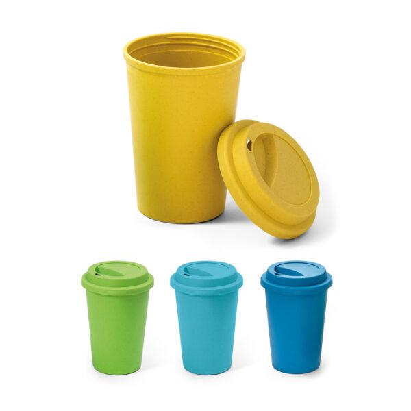 taza de viaje personalizada de colores