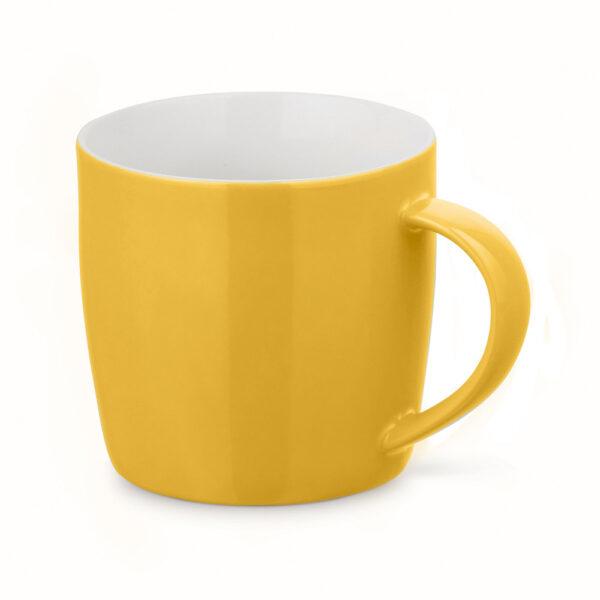 Taza personalizada baja de color amarillo