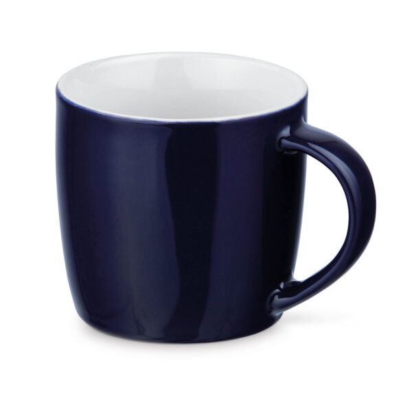 Taza personalizada baja de color azul