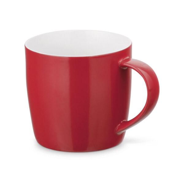 Taza personalizada baja de color rojo