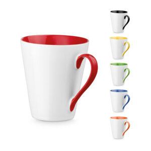 Taza personalizada con asa e interior de color