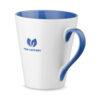 Taza personalizada con logo y asa e interior de color azul