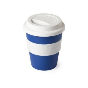 taza de viaje color azul