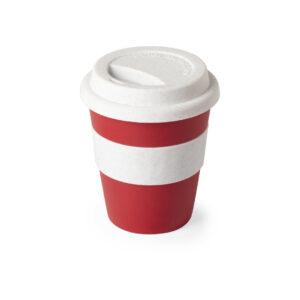 taza de viaje color rojo
