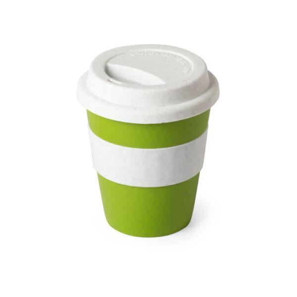 taza de viaje color verde